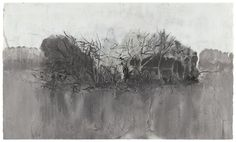 Hurvin Anderson (B. 1965) UNTITLED (ISLAND): oil and acrylic on paper;42 by 70 cm. 16 1/2 by 27 1/2 in.: Executed in 2004.