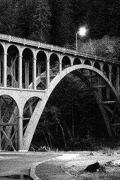 Highway 101 Bridge at Heceta Head, Oregon • Brad Sloan