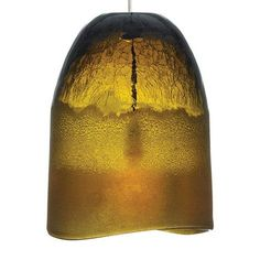 Chill Bronze One-Light Mini Pendant with Amber Glass - (In Bronze)