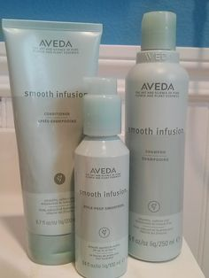 Aveda Smooth Infusion line - only line I use in my hair.  Love Aveda!