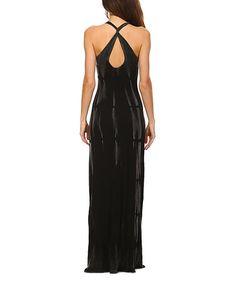 Another great find on #zulily! Black Tie-Dye Maxi Dress #zulilyfinds