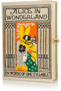 Olympia Le-Tan|Alice In Wonderland embroidered clutch|NET-A-PORTER.COM