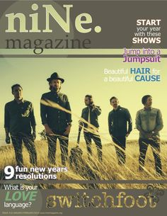 niNe. magazine cover Switchfoot