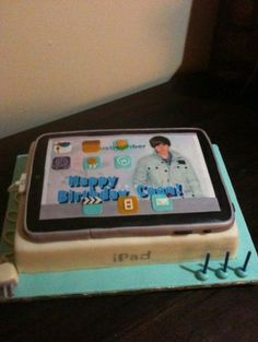 Justin Bieber iPad birthday cake.   Brooklyn wants a cake like this for her B-day!! This should be fun..