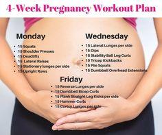 cool 4 Week Pregnancy Workout Plan - Michelle Marie Fit