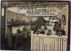 Photograph - Hecla Electrics Pty Ltd, Display at Trade Fair, circa Melbourne Suburbs, Melbourne Victoria, Historical Photos, Old Photos, 1930s, Trade Fair, Australia, History, Depression