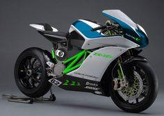 Kawasaki ZX-1EV electric motorcycle concept.