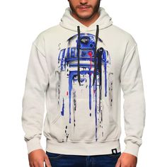 Droid 2 Premium Hoodie Premium zip-up hoodie hand made by skilled artisans with two-layer construction design, ideal for keeping you warm. The inner layer i Colorful Hoodies, Construction Design, Hand Sewing, Organic Cotton, Zip Ups, Printers, Sweatshirts, Warm, Tops