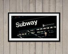 Fotografia di New York Subway stampa fineart di ArchiPhoto su Etsy, €24.00