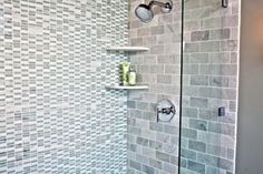 Bathroom Gallery | Inspiration | The Tile Shop                      Biltmore Tumbled 3x6  Hand Carved Landsdale Hampton Carrara Flat Corner  Hamilton Biltmore w ice glass .5 x 1.75in