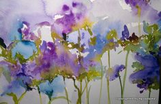 Lavender and Blue Flowers by MiJardinFlorido on Etsy, $35.00