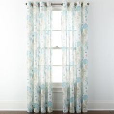 jcp | JCPenney Home™ Corina Grommet-Top Sheer Panel  For entryway windows