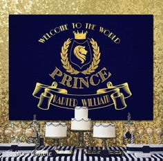 SALE Prince backdrop Prince Baby Shower Decor Prince