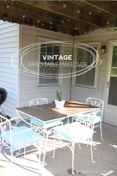 A Vintage Patio Table Makeover! Transform A Wrought Iron Vintage Patio  Table Using A Little