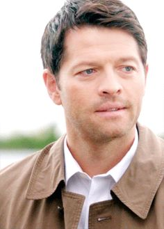 Castiel | Supernatural. When Claire she likes him better in the tie.