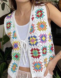 Crochet Clothes, Diy Clothes, Cute Crochet, Knit Crochet, Crochet Designs, Crochet Patterns, Estilo Indie, Accesorios Casual, Crochet Fashion