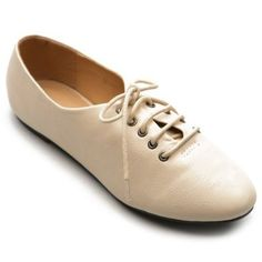 Ollio Womens Oxfords Ballet Flats Loafers Lace Ups Low Heels Multi Colored Shoes