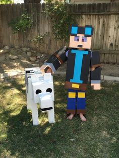 Minecraft Villager Head Costume DanTDM The diamond min...