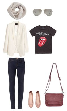 Parisian French Fashion Outfit 1 by mochimac on Polyvore featuring MANGO, H&M, J Brand, Sonia Rykiel and Rayban