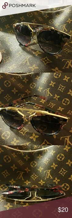 Stained glass Prada look shades Adorable sunglass Accessories Glasses