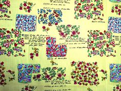 Tiny different style flowersYellowCotton Hand by HeavenKnow