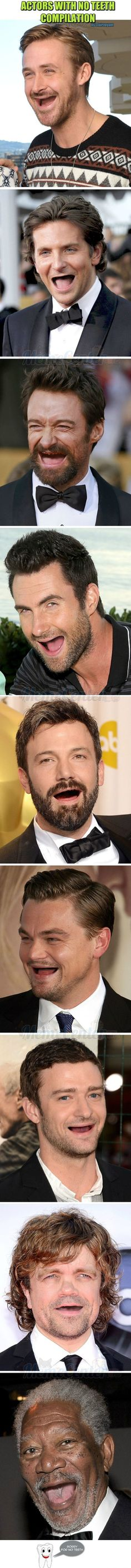 Actors With No Teeth Compilation - www.funny-pictures-blog.com