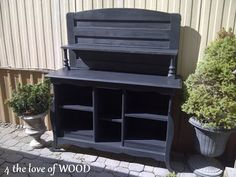 4 the love of wood: THE JOYS OF BLACK WAXING - boys black bookshelf