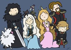 Game of Thrones (Adventure Time style)