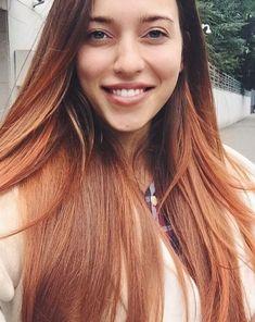 Regina Todorenko, long hair, beautiful smile, red hair, Ukrainian girl
