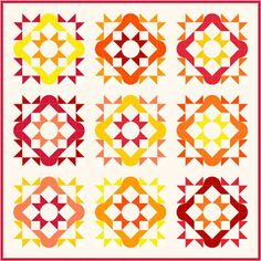 June - September 2016: Solstice Quilt-A-Long from www.happyquiltingmelissa.com