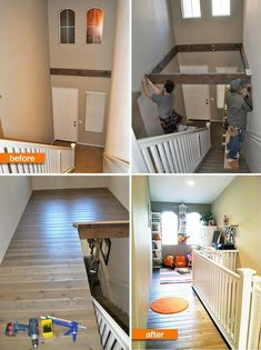 Build a loft or home office and bring back unused space in your foyer. Build a loft or home office and bring back unused space in your foyer. , Build a loft or home office and reclaim unused space in your foyer. , Home Im. Diy Storage Space, Storage Ideas, Loft Storage, Office Storage, Entryway Storage, Smart Storage, Extra Storage, Home Renovation, Home Remodeling
