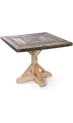 Rustic Reclaimed Wood Kitchen Table | Square Farmhouse Best Price