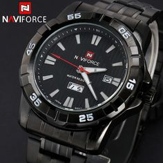 New Brand Fashion Men Sports Watches Men's Quartz Hour Date Clock Man Full Steel Military Army Waterproof Wrist watch