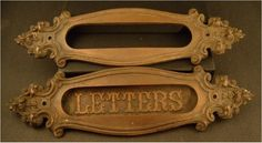 Vintage Molded Bronze letter slot. $45.00 I don't know how to make this work