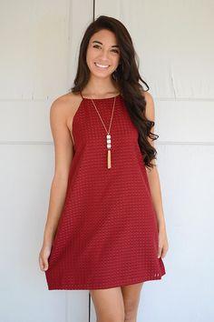 Carolina Gameday Dress Garnet
