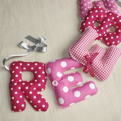 Fabric letter name banner  Letter bunting baby  by PopelineDeco