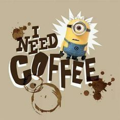 Minions need coffee. Coffee Talk, I Love Coffee, My Coffee, Morning Coffee, Coffee Break, Coffee Shop, Coffee Club, Coffee Lovers, Black Coffee