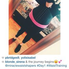 SHOUT OUT TO @blonde_sirena for her first day of training  Welcome to the team #MiracleWaistTeam