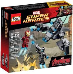 The Lego Marvel Super Heroes Iron Man vs Ultron set from Lego - a great selection of Lego construction sets at Wonderland Models. One of our favourite sets in the Lego Marvel Super Heroes range is the Iron Man vs Ultron set. Ultron Marvel, Age Of Ultron, Lego Marvel's Avengers, Avengers Age, Iron Men, Lego Minecraft, Lego Disney, Funko Mini, Lego Ironman