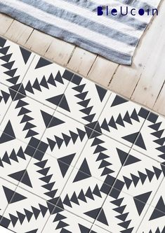 Stockholm Floor Tile Decal Kitchen Bathroom Vinyl Decal - Stairs/Wall Stickers Peel & Stick Adhesive Tile for Home Decor : Pack of 44 by Bleucoin Flooring For Stairs, Stair Walls, Grey Flooring, Stairs Vinyl, Flooring Ideas, Peel And Stick Floor, Peel And Stick Vinyl, Bathroom Vinyl, Bathroom Floor Tiles
