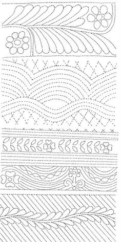 Quilting design  Kim Williams via Jackie Dove onto Quilts - Patterns, Tutorials & Crafts