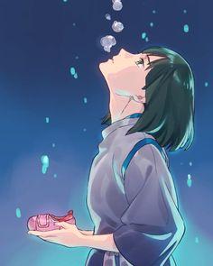 ghibli, spirited away, Haku / 川だった頃のハク - pixiv Girls Anime, Anime Guys, Manga Anime, Anime Art, Hayao Miyazaki, Studio Ghibli Art, Studio Ghibli Movies, Spirited Away Haku, Chihiro Y Haku