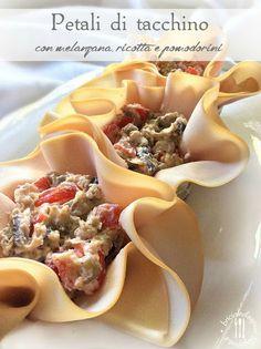 Briciole di Sapori: Petali di tacchino con melanzana, ricotta e pomodo...