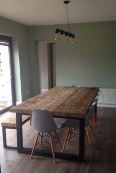 Reclaimed Industrial Chic 10-12 Seater Dining Table Bar Cafe