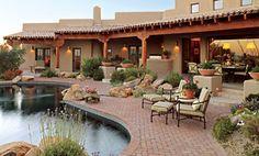 Pueblo-style home