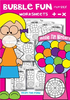 Bubble Fun Number Worksheets - Print and PLay $