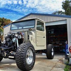 by Dave Krenske Fj Cruiser, Toyota Land Cruiser, Landcruiser Ute, Jeep Bumpers, Toyota Fj40, Jeep Truck, Kustom, Jeeps, Offroad