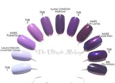 The New Black Nail Polish Ombre Set in Haze Dupes Comparison Swatches - African wear - Black And Purple Nails, Purple Nail Polish, Black Nails, Nail Manicure, Diy Nails, Maybelline Nail Polish, Dip Nail Colors, Dupes, Gel Nail Art Designs