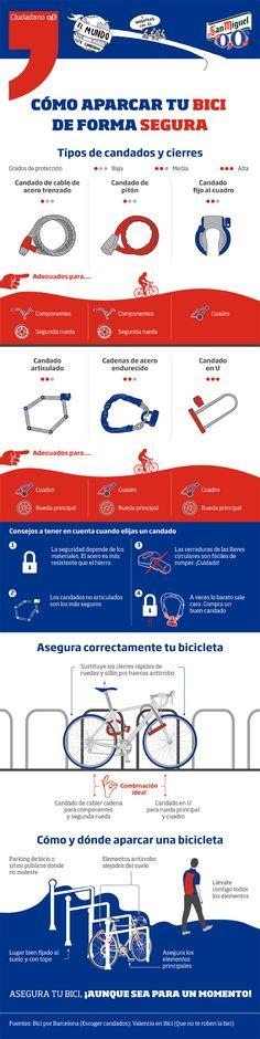 Aparcar la bici de forma segura | Infografía