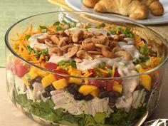 Layered Caribbean Chicken Salad #GlutenFree